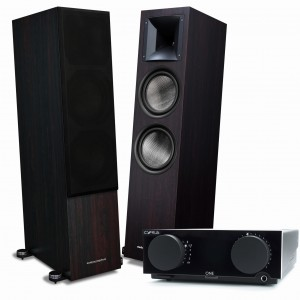 Audiosymptom i8 Walnut + Cyrus One Black